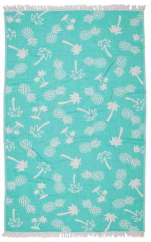 Road Trip Palm Beach Towel - Green
