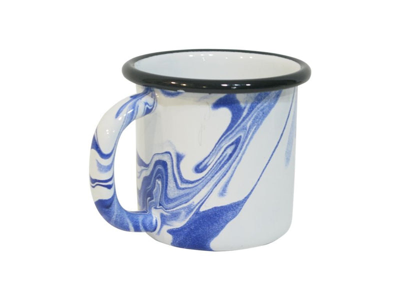 Swirl Enamel Mug and Saucer