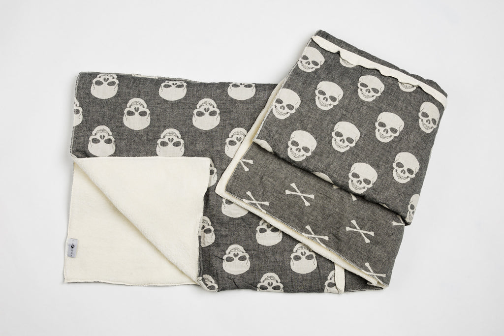 Skulls and Bones Fleece Throw - Pre order