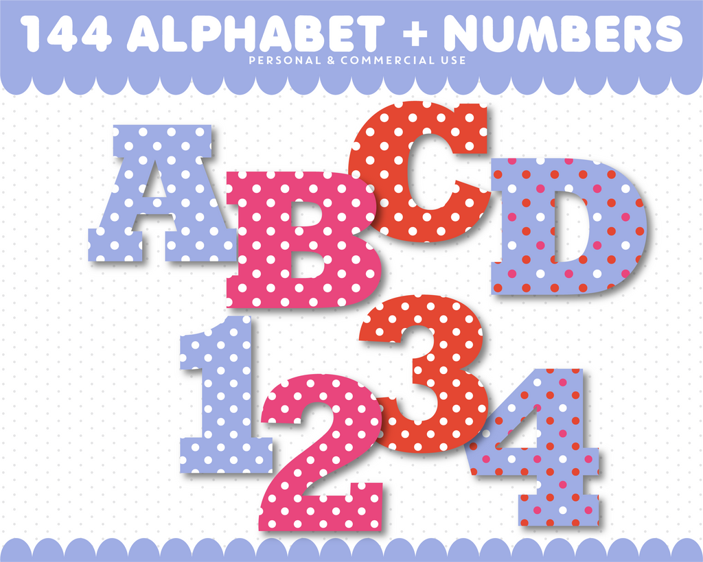 Purple and red alphabet clipart, AL-75
