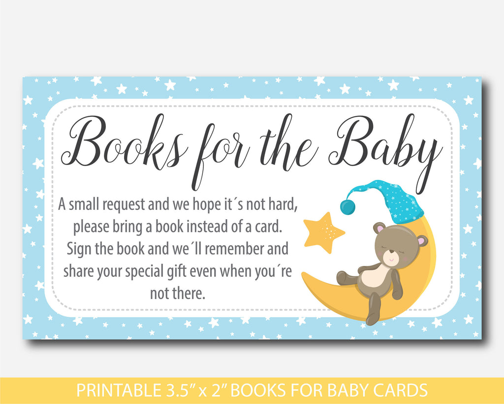 Teddy Bear Bring A Book Instead Of A Card Inserts, Bear Baby Shower Books  For