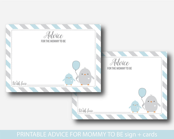 Chicken advice for the mommy to be baby shower card and sign, BC1-09