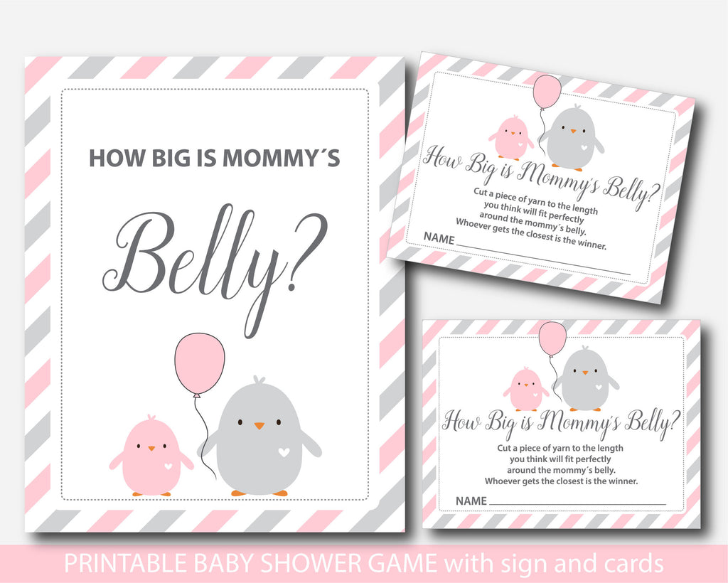 Chicken How Big Is Mommys Belly Game Chicken Baby Shower Belly