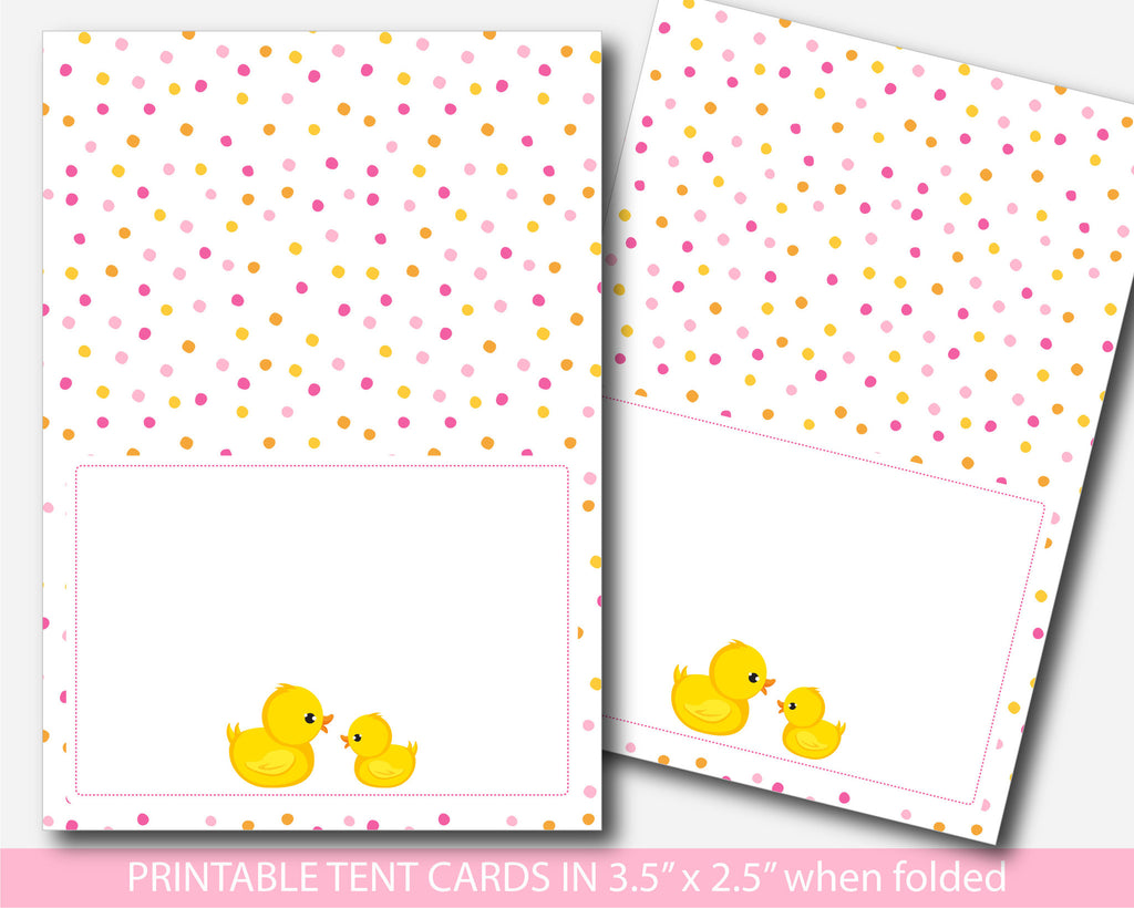 Rubber duck baby shower food labels, Ducky food tent cards, Duck place cards, Ducks food tent labels, Duck place settings, Duck buffet labels, BD1-10