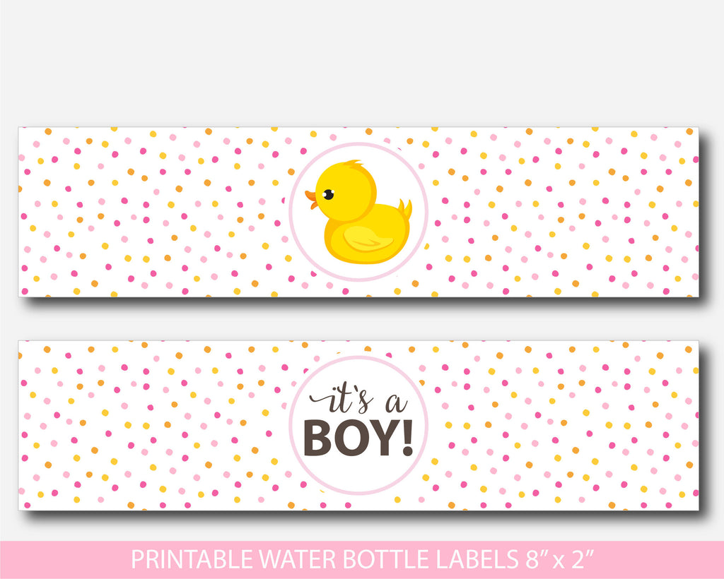 rubber ducky water bottle labels yellow duck baby shower water labels bd118