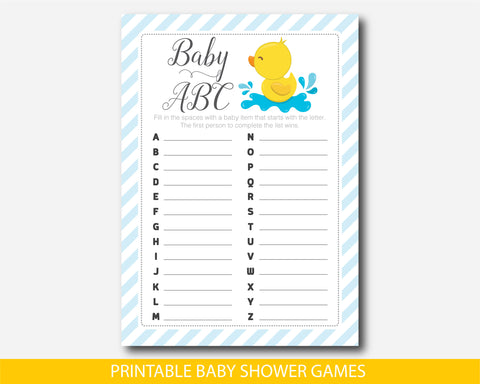 Baby shower ducky ABCs game, BD2-04