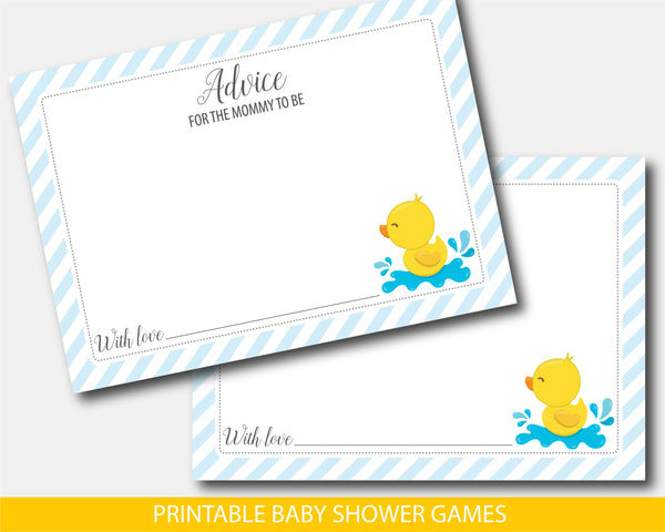 Rubber ducky advice for the mommy to be cards and sign, BD2-10