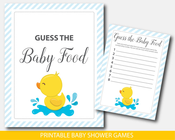 Ducky baby shower food game, Ducky guess the baby food game, BD2-13