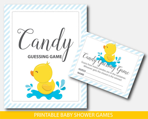 Duck baby shower candy guessing game, BD2-16