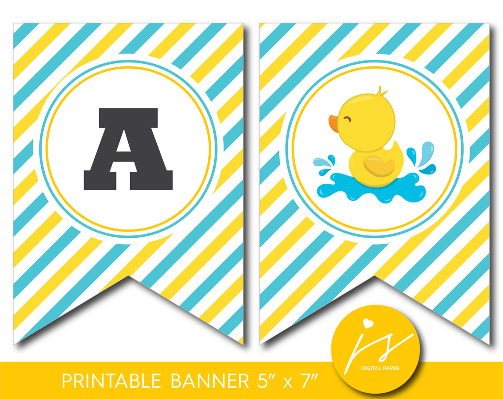 Printable rubber ducky party banner, BD2-19