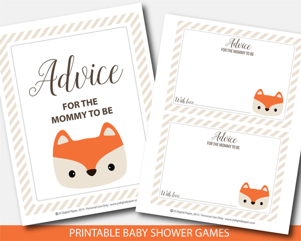 fox advice mommy, fox advice for mom, fox advice game, fox advice cards, foxy advice game, mommy to be card, mommy to be sign, advice cards, advice sign, fox baby cards, woodland advice card, well wishes for mom, fox new mom,
