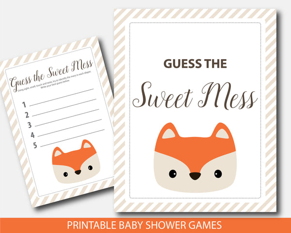 dirty diaper game, guess the sweet mess, fox candy bar game, fox baby shower diaper, fox sweet mess, diaper candy game, guess sweet mess, sweet mess cards, sweet mess sign, fox diaper game, fox diaper game card, diaper game sign, fox diaper candy bar,