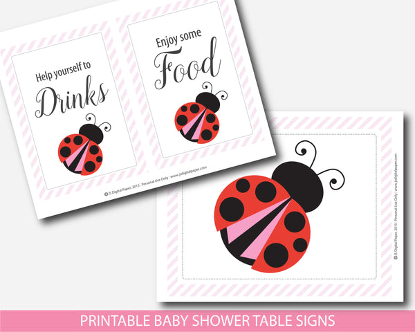 ladybug signs, ladybug table signs, ladybug baby shower, ladybug theme, ladybug decor,  spring signs, spring baby shower, spring baby theme,  lady bug signs, lady bug sign, lady bug baby shower, lady bug baby theme, lady bug baby decor,