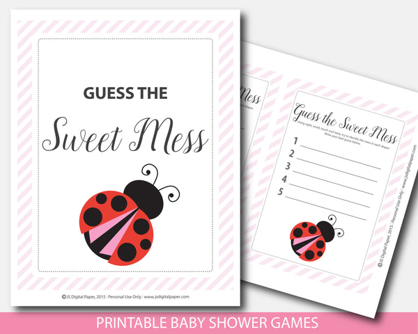 Red ladybug guess the sweet mess game, BLB4-11
