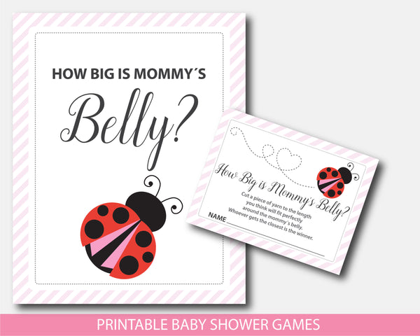 Red ladybug how big is mommy´s belly game, BLB4-12