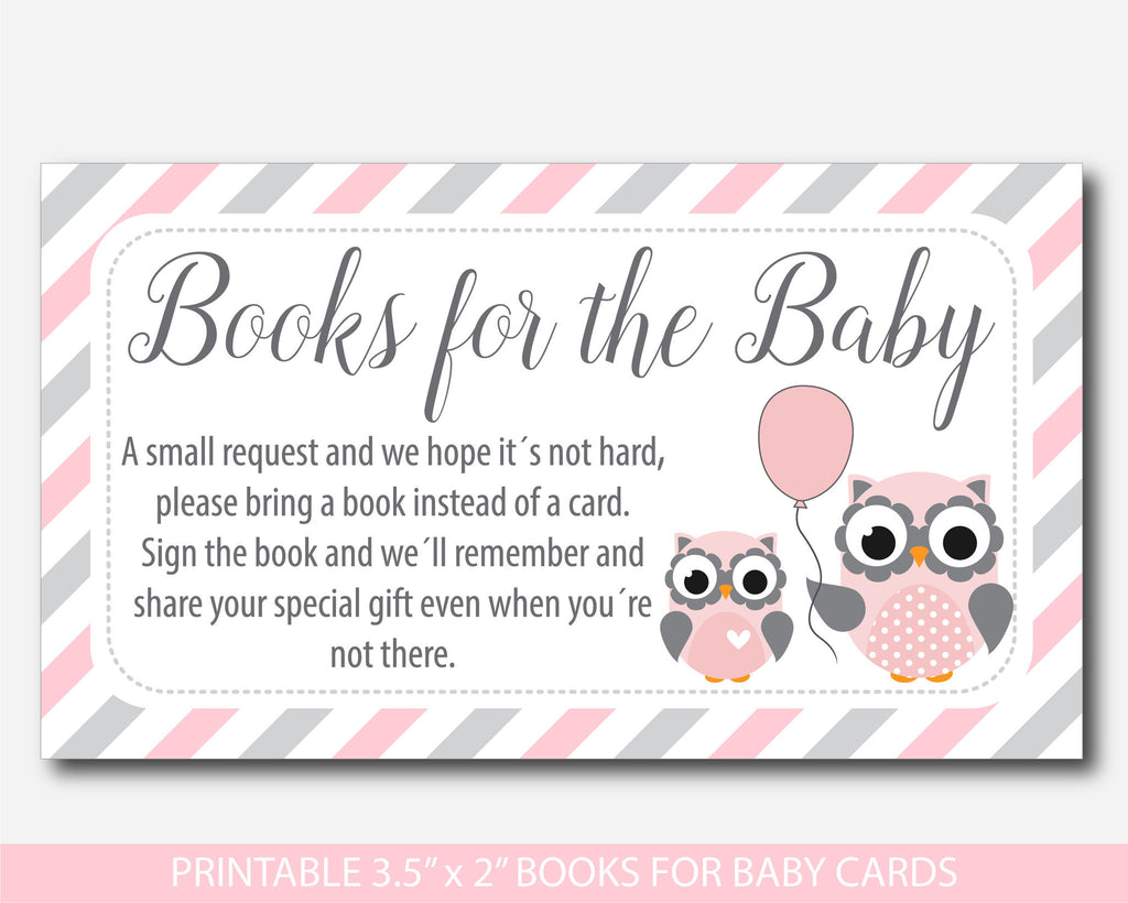 woodland owl bring a book instead of a card inserts owl baby