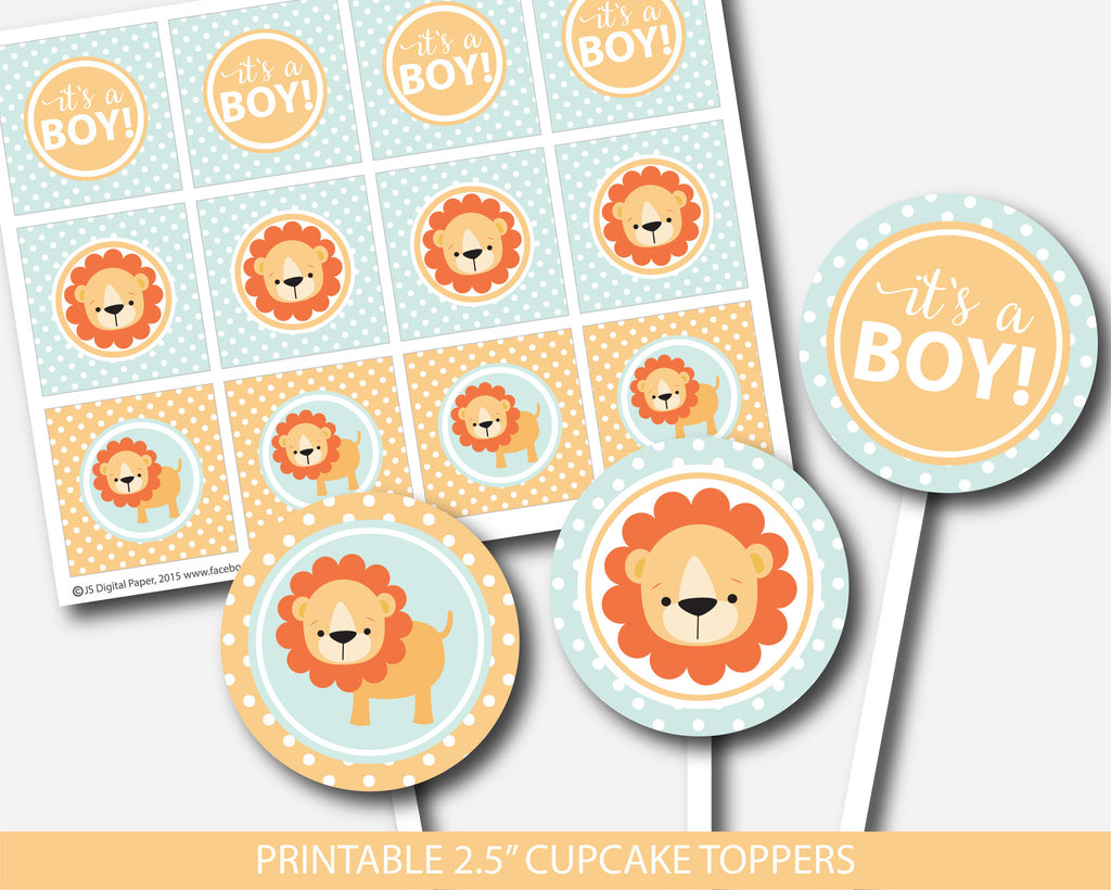 lion cupcake toppers lion toppers lion baby shower theme