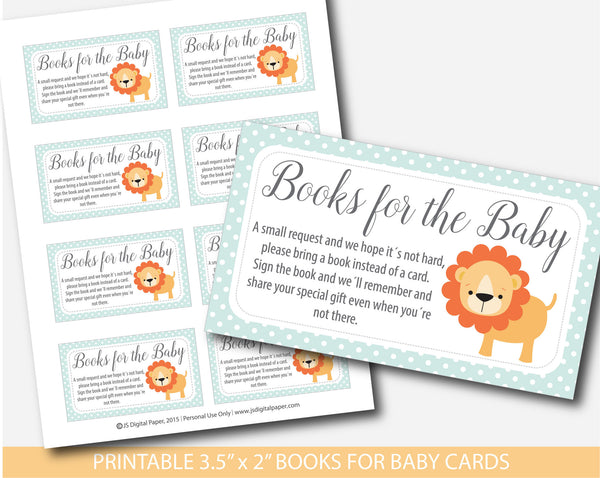 Lion book request, Safari book request, Jungle book request, Lion book insert, Safari book insert, Jungle book insert, Safari books for the baby card, BS1-14