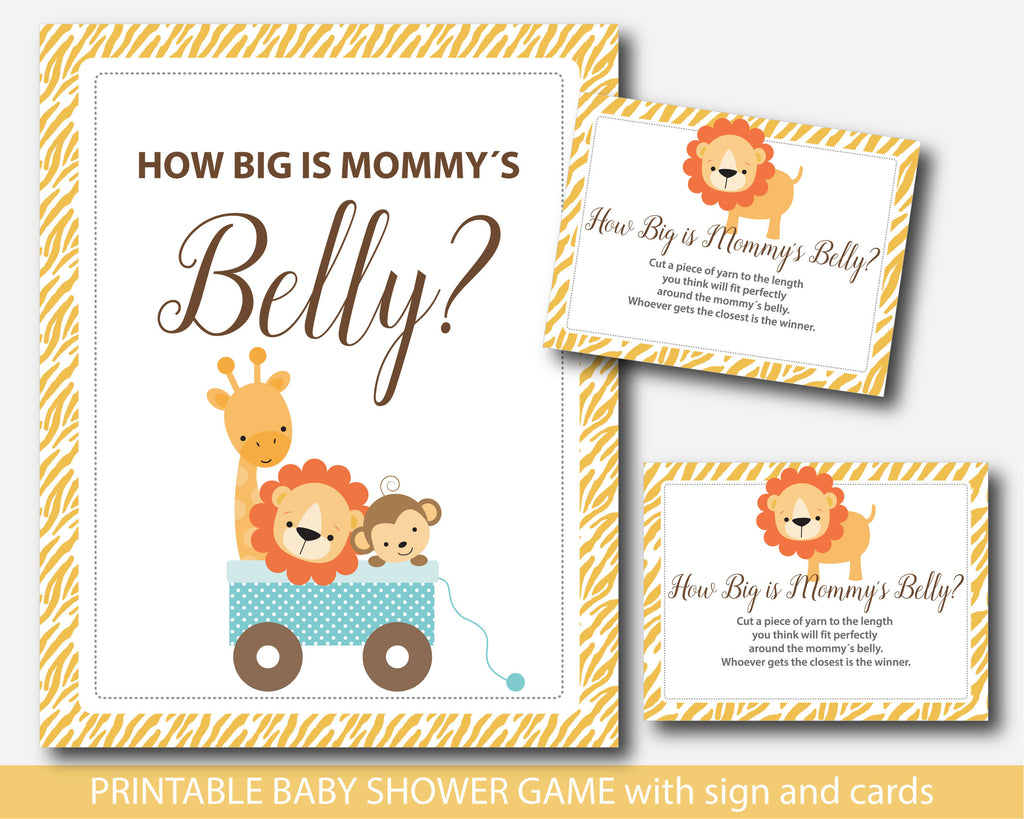 Safari How Big Is Mommys Belly Game Safari Belly Game With Cards