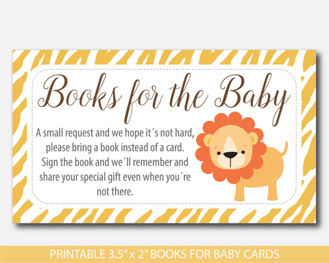 Jungle book request, Lion book request, Safari book request, Lion book insert, Safari book insert, Jungle book insert, Safari books for the baby card, BS3-14