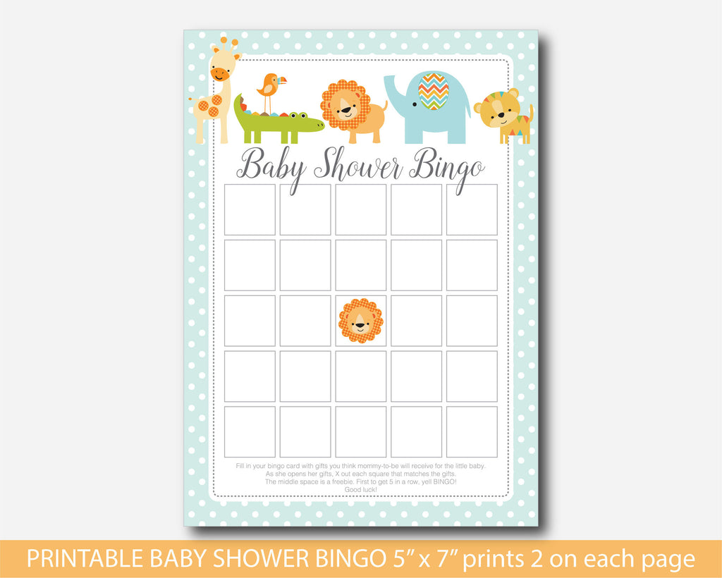 Wonderful Safari Bingo Cards, Lion Bingo Cards, Jungle Bingo Cards, Safari Baby  Shower Bingo