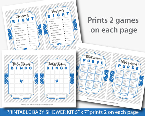 Royal blue baby shower games, BY205
