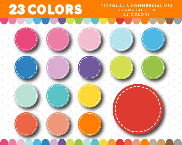 Round circles with inner border clipart, CL-1011