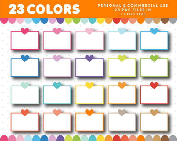 Heart planner box clipart, Planner clipart for sticker design, CL-1018