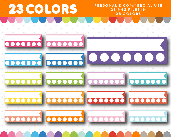 Planner headers with round checkmarks, Planner clipart for stickers, CL-1024