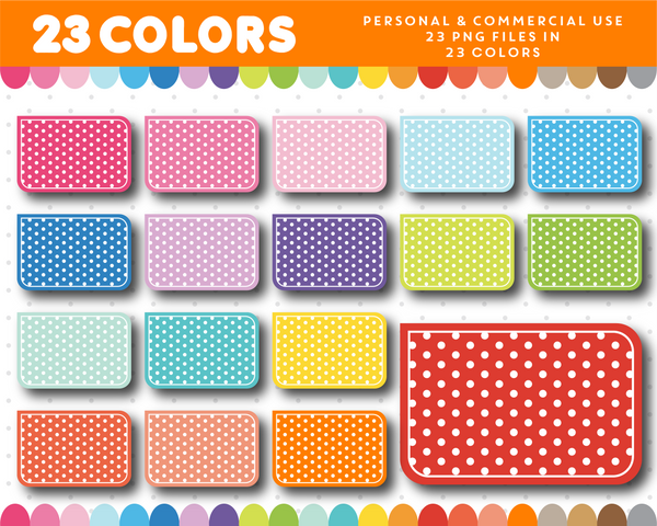 Half box sticker clipart with polka dots, CL-1027