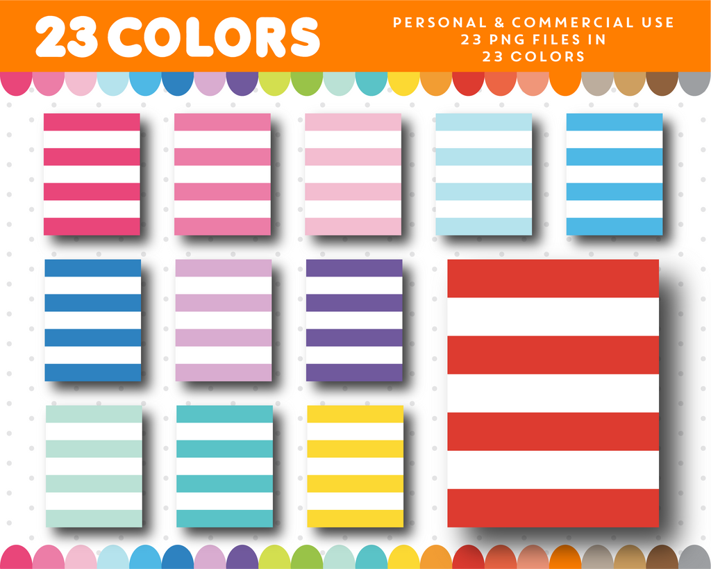Striped full box planner clipart, CL-1107