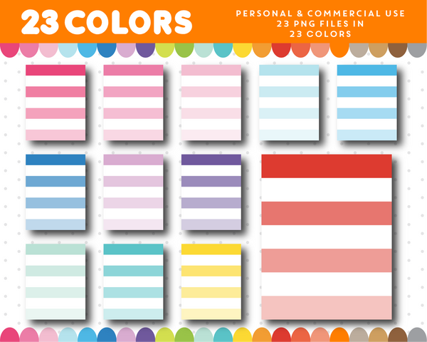 Full ombre box planner clipart, CL-1108