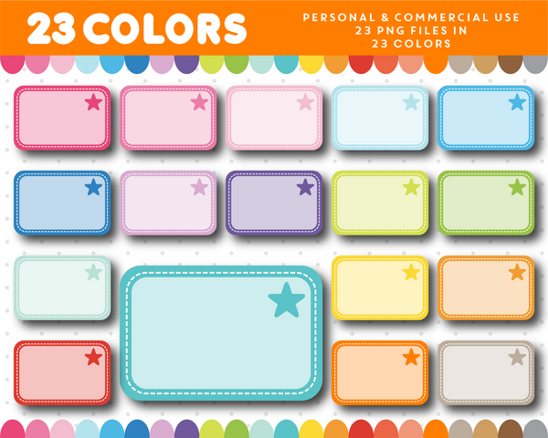 Half box with star frame clipart, CL-1126
