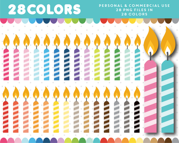 Birthday candle clipart, CL-1172