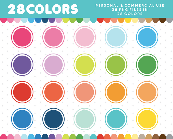 Round frame with round border clipart in rainbow colors, CL-1206