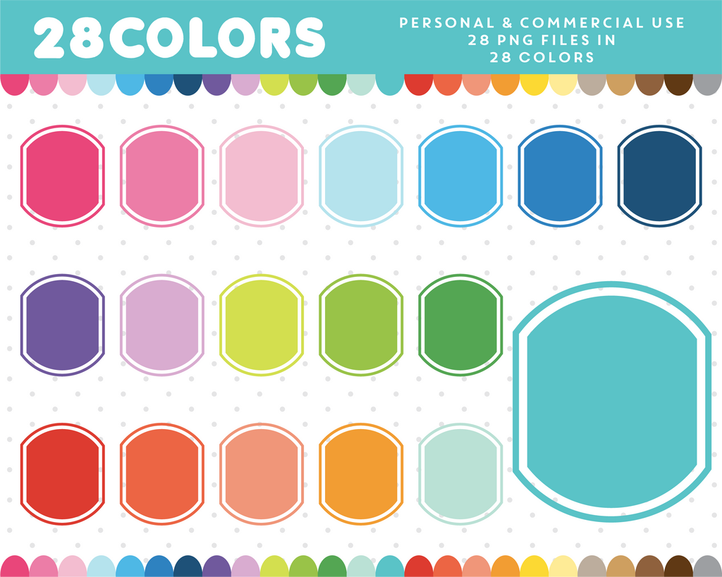 Rainbow colored border frame clipart, CL-1207