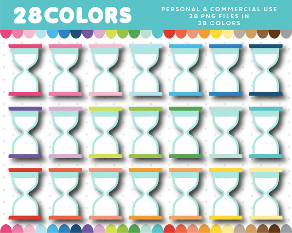 Hour glass clipart in 28 colors, CL-1299