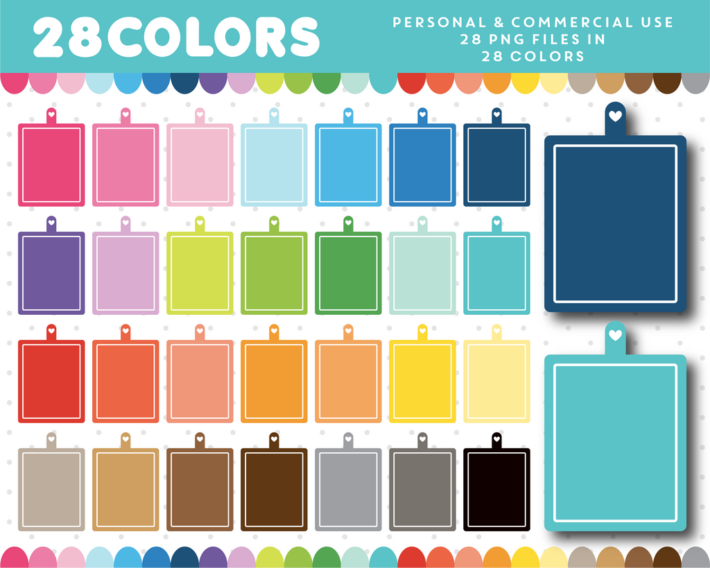 Cutting board clipart in 28 colors, CL-1300
