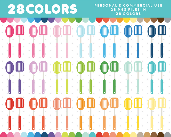 Barbecue clipart in 28 colors, CL-1334