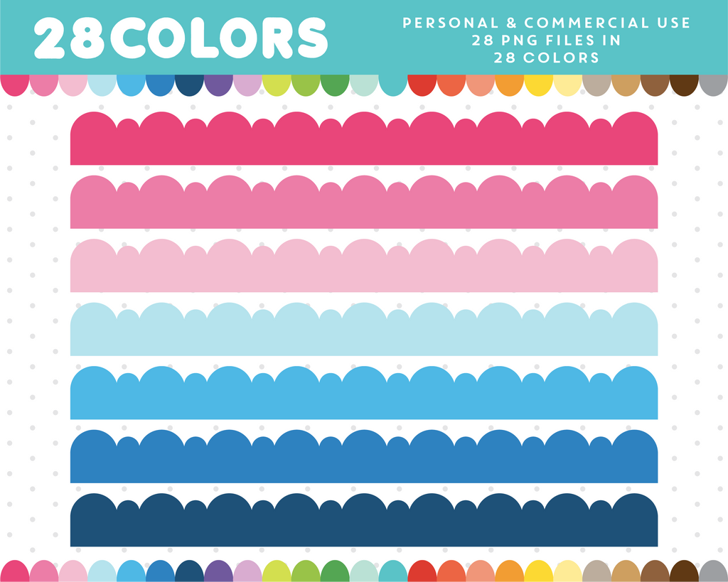 Borders clipart in 28 colors, CL-1462
