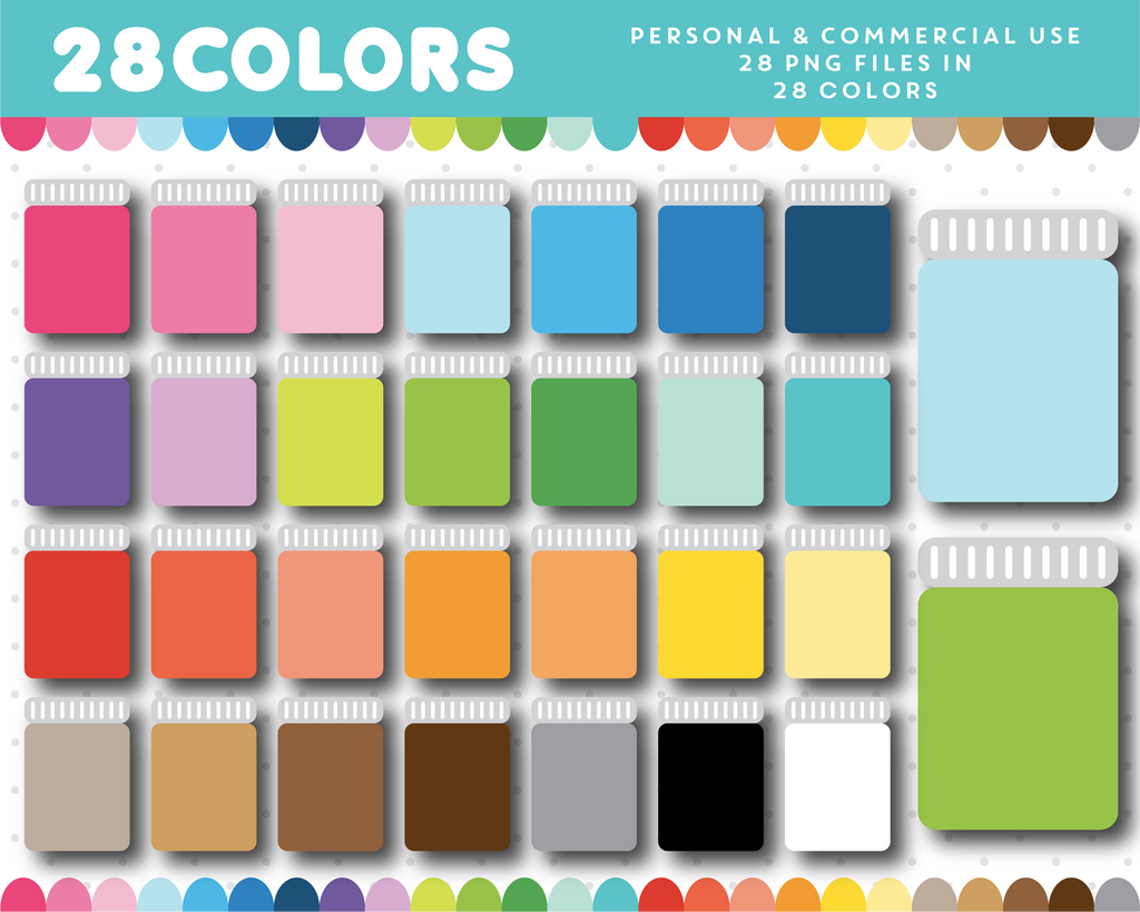Tall jar clipart in 28 colors, CL-1470