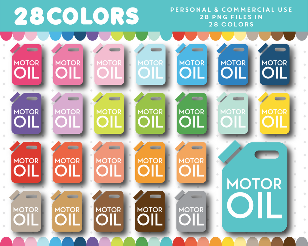 Motor oil clipart in 28 colors, CL-1600