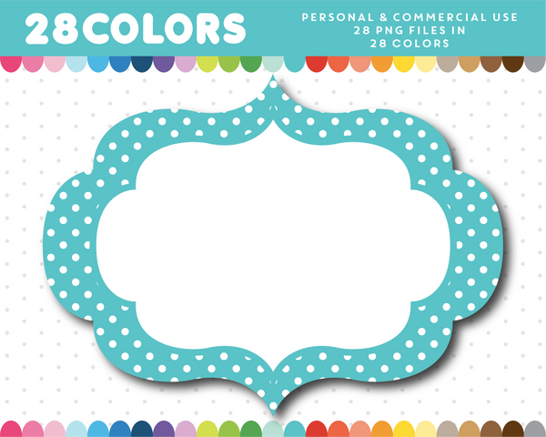 Digital frame with polka dots in 28 colors, CL-1629