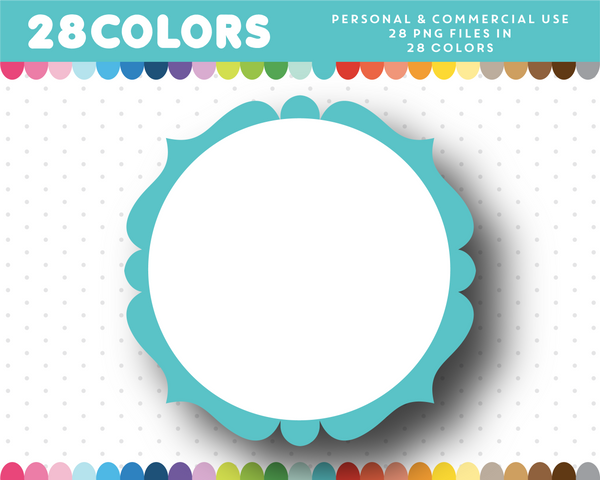 Wedding frame clipart in 28 colors, CL-34