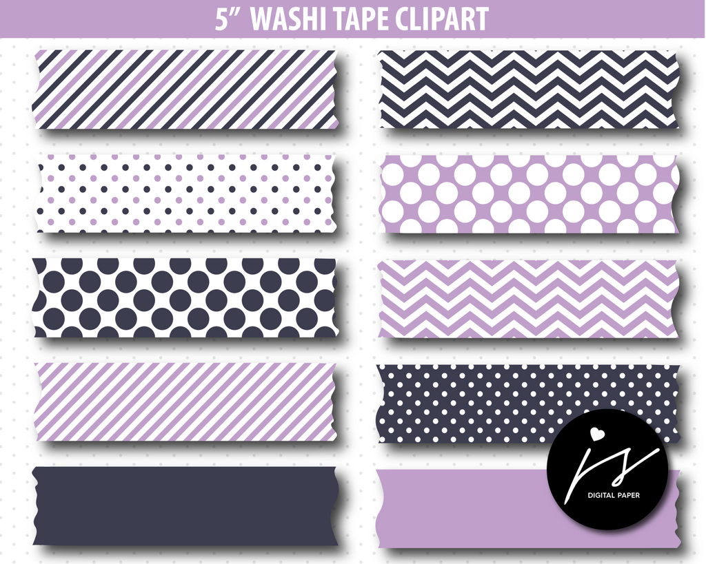Washi tape clipart in purple colors, CL-772