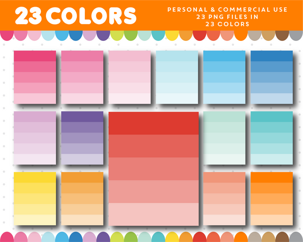 Full box clipart, Ombre full box planner clipart for sticker designers, CL-963
