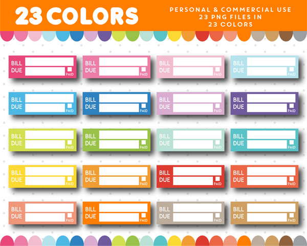 Bill due headers for sticker planning, CL-994 JS Digital Paper