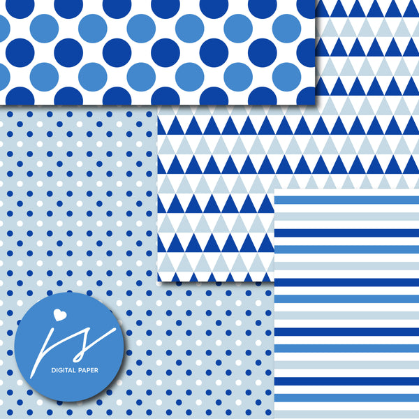 Royal blue printable digital paper, MI-682