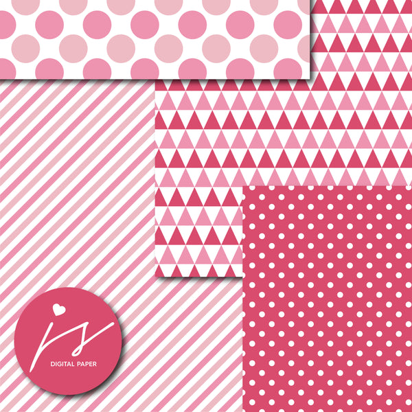 Pink printable digital paper, MI-685