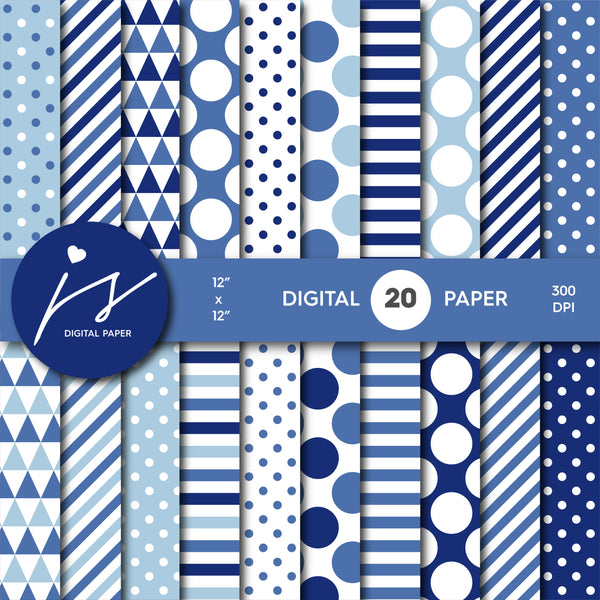 Winter blue digital paper, MI-708